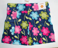 NWT GYMBOREE SMART AND SWEET NAVY CORDUROY FLORAL SKIRT 5