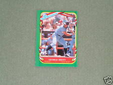 GEORGE BRETT- FLEER-Star Sticker Card- #15-1987