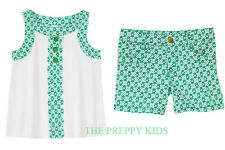 NWT Gymboree THE GREEN SCENE Mod Clover Tank & Clover Print Short Outfit Set 4