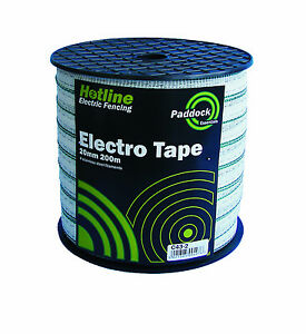 Electric Fencing Tape - Value Paddock Tape - 20mm x 200m (green)