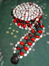 Natural Handmade Jungle Seed Bead Kofan Tribal Protection Belt Beadwork Colombia