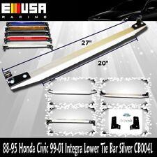 EMUSA Lower Tie Bar FOR 88-95 Honda Civic 99-01 Integra 93-97 Del Sol SILVER