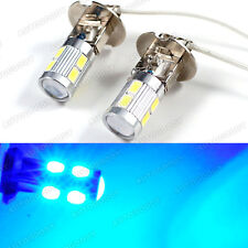 H3 LED Bulbs 10-SMD Ultra Blue Driving Fog Lights High Beam