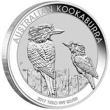 1 Kilo Silber Kookaburra 30 Dollar Australien 2017 Stempelglanz in Münzkapsel