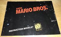 1985 Original SUPER MARIO Bros Game Instruction Booklet MANUAL ONLY Nintendo NES