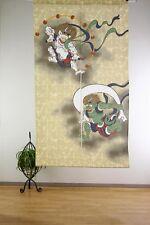 JAPANESE Noren Curtain NEW UKIYOE FUJIN RAIJIN  NEW MADE IN JAPAN