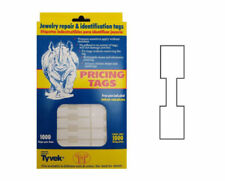 1000 Pc White Price Square Barbell Label Dumbbell Tags Sticker Jewelry Price Tag