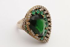 Turkish Ring Size 8 Jewelry 925 Sterling Silver Emerald