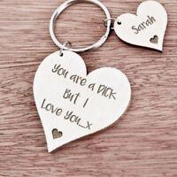 Personalised Gift For Him Boyfriend Husband Men Birthday Anniversary Keyring K25