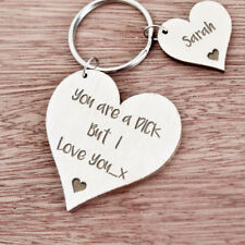 Personalised Gift For Him Boyfriend Husband Men Birthday Anniversary Keyring K25
