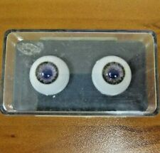 Vintage New Glastic Realistic Eyes Glass Craft Doll Parts NOS 16 mm Green Violet