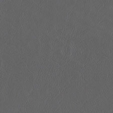 Heavy Duty Faux Leather Leatherette Upholstery Fire Retardant Vinyl Fabric Grey 2 Metres
