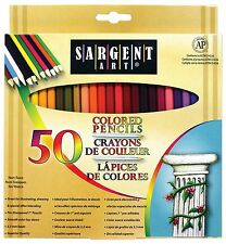 50 Premium Colored Pencils For Adult Coloring Books Drawing Pencil Art Set NEW
