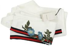 NEW GUCCI JERSEY WHITE WEB FLOWERS EMBROIDERY STIRRUP LEGGINGS PANTS S