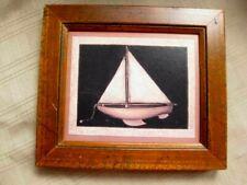 Mary Beth Baxter Folk Art Toy Boat Framed signed Print Waterline, Boston, MA
