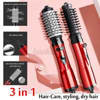 3 In 1 Rotating Hair Curling Roll Brush Curly Comb Hot Air Dryer Styler Styling