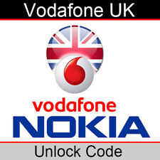 Vodafone UK Nokia Unlock Code (for All Models EXCEPT iPhone)