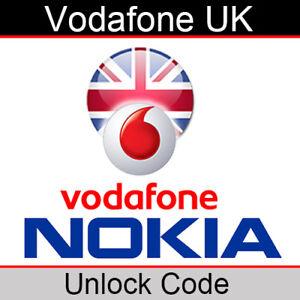 Vodafone UK Nokia Unlock Code