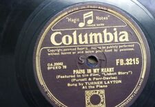 78 RPM Turner Layton Parigi nel mio cuore/la memoria di un valzer