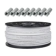 100m KUPFER 110dB Koaxialkabel DIGITAL Antennenkabel SAT Kabel Full Ultra HD TV