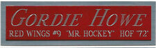 GORDIE HOWE RED WINGS NAMEPLATE FOR AUTOGRAPHED Signed STICK PUCK JERSEY PHOTO