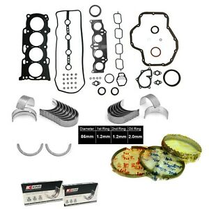 Fit 01-03 Toyota RAV4 2.0L DOHC 1AZFE FULL GASKET SET KING BEARINGS SET