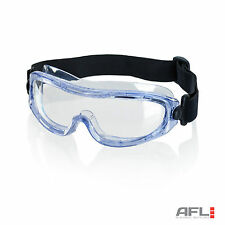 B-Brand Lightweight Narrow Fit Low Profile Safety Goggles - Anti Fog Lens