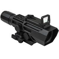 NcSTAR VISM Tactical ADO 3-9x42 Rifle Weaver Rail Scope w/Flip Up Red Dot Optic