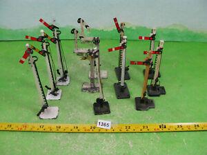 vintage model railway layout metal signals mixed lot few 2 restore OO gauge 1365