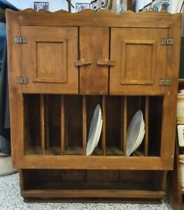 Alter Küchenschrank Hängeschrank Tellerregal Handtuchhalter Holz Ablage Schrank