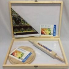 More details for new 4pc asian roti flour box chappatti box rolling pin board