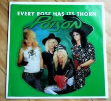 NM/NM! Poison Every Rose Has Its Thorn Shaped Vinyl Picture Disc Pic