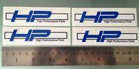 TP HP Abziehbilder / Aufkleber für BMW S1000RR HP4 (4 x 100 mm Aufkleber) /1033