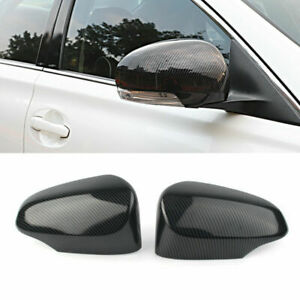 For Toyota Corolla 2014-2018 Side Door Mirror Wing Trim Cover Carbon Fiber Style