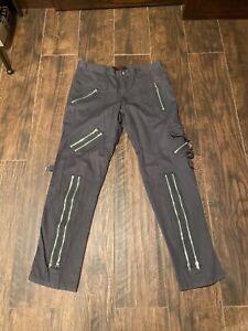 Tripp NYC Bondage Pants 36 Punk Goth Gray