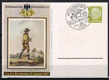 1 Sonderkarte P 241 zum Tag der Briefmarke 1941 Stempel Gmunden # 803