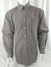MENS VTG TOMMY HILFIGER XL RED PLAID BIG LOGO SHIRT SHIPS FAST