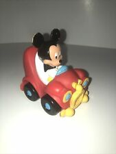 Disney Sassy Car - Plastic - Hard Rubber Mickey Mouse as Driver