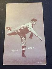 FRED HUTCHINSON 1940s Vintage Exhibit Cardboard Baseball Card GOOD