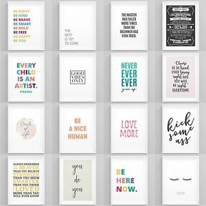 Motivational Quotes Poster Inspirational Large Print Wall Art Home Décor Picture