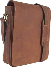 UNICORN Real Leather iPad, Kindle, Tablets & Accessories Messenger Bag Tan #3E