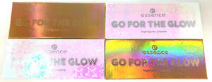 (4) Essence Go For The Glow Highlighter Palette SEALED 01 Cools & 02 Warms