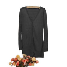 Women Casual Loose Long Sleeve Knitted Sweater Tops.Cardigan Outwear*Coat Jacket