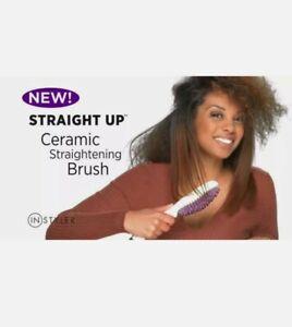 INSTYLER Straight Up Ceramic Straightening Brush - EUC hair straightener corded