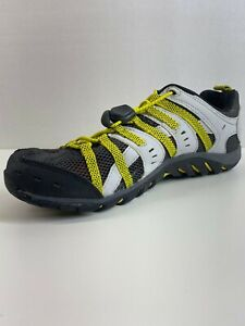 Men's Merrell Waterpro Manistee Size 8.5 Water Hiking Shoes Lace Up Ash Yellow
