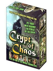 Crypt Of Chaos Fantasy Card Tile Game Dare You Enter Crystal Dagger Board Games