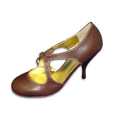 Dolce Vita Brown Leather Mary Jane Shoes