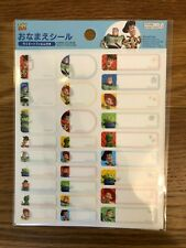 DAISO JAPAN Name sticker Toy story with laminated film NEW made in JAPAN