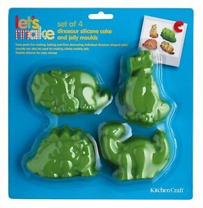 Kitchen Craft Let's Make Dinosaur Shaped Silicone Cake Jelly Moulds