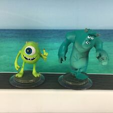 Disney Infinity Monsters Inc. Sully & Mike Wazowski Video Game Figures Free S/H
